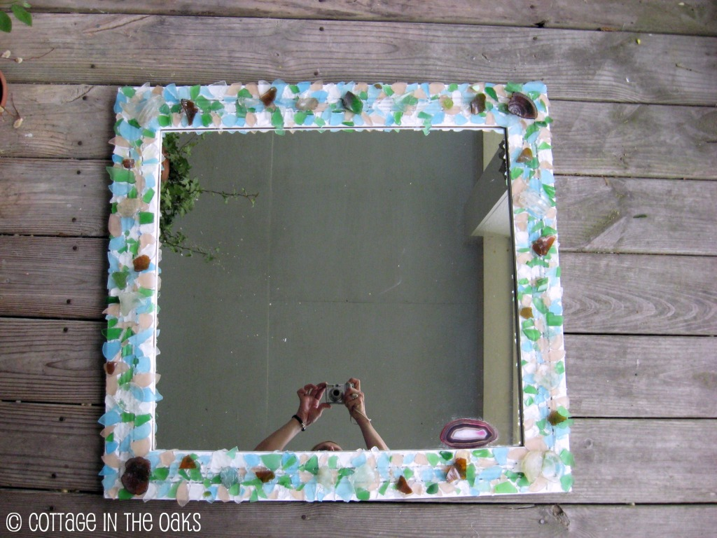 How to Make a Sea Glass Mirror - Cottage in the Oaks