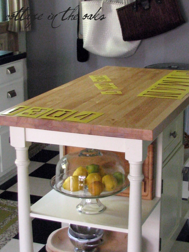 Antiqued / Distressed Kitchen Island ::: From the Archives ...