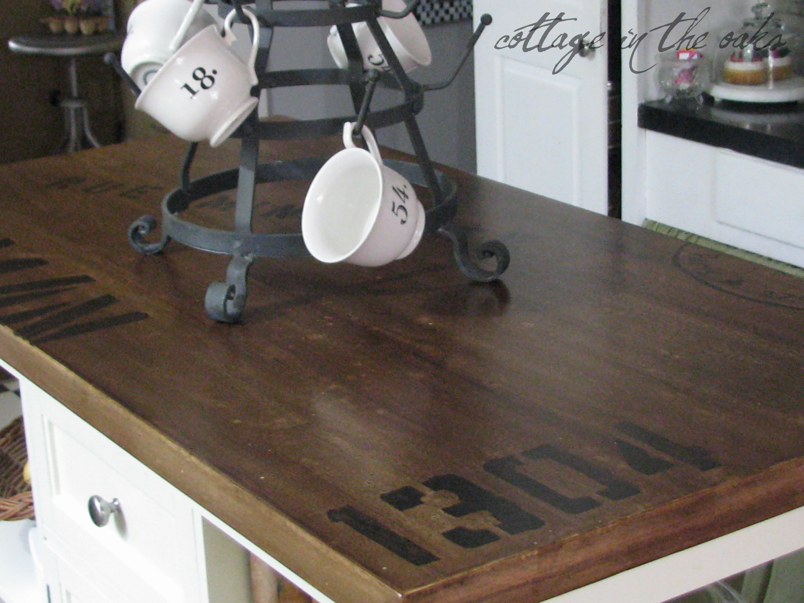 amusing kitchen island counter | Distressing/Antiquing a Kitchen Island - Cottage in the Oaks