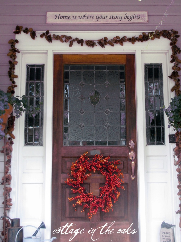 Autumn Door Decor Cottage In The Oaks