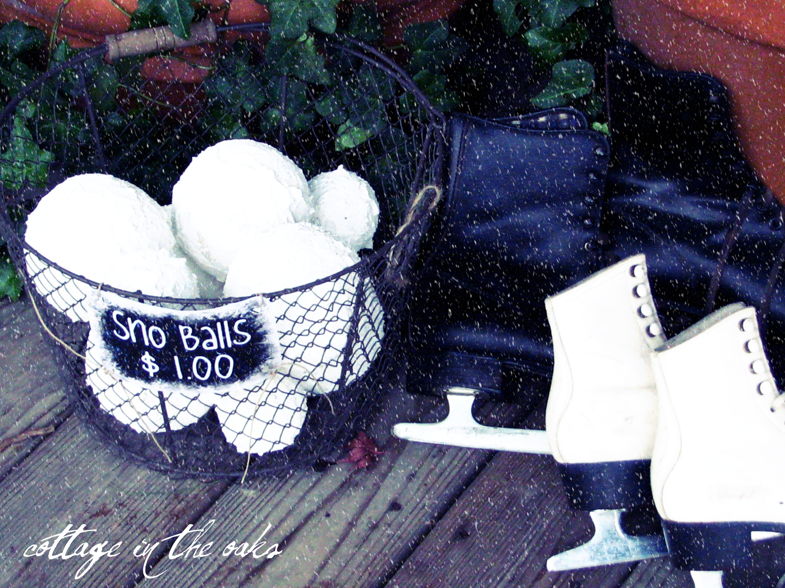 Diy faux snowballs… cottage in the oaks