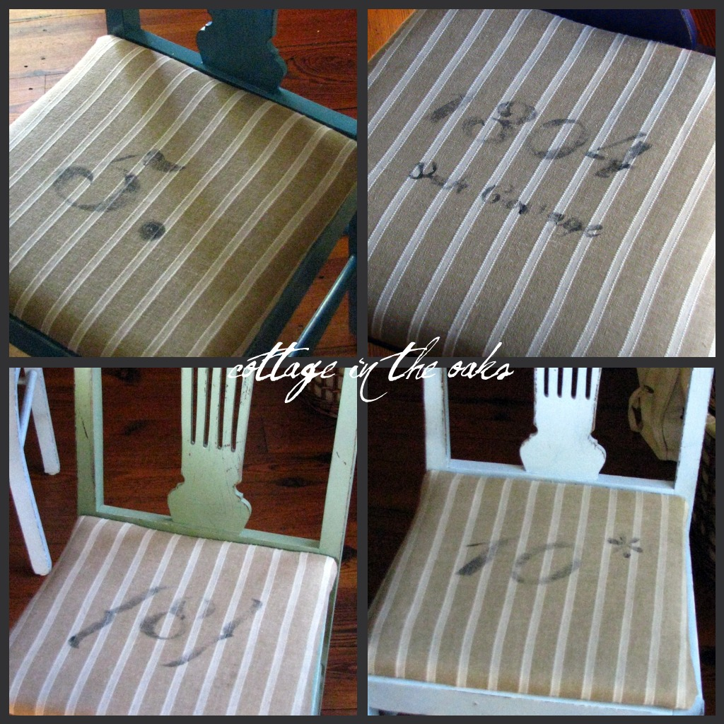 Stenciling Dining Chair Cushions - Cottage in the Oaks