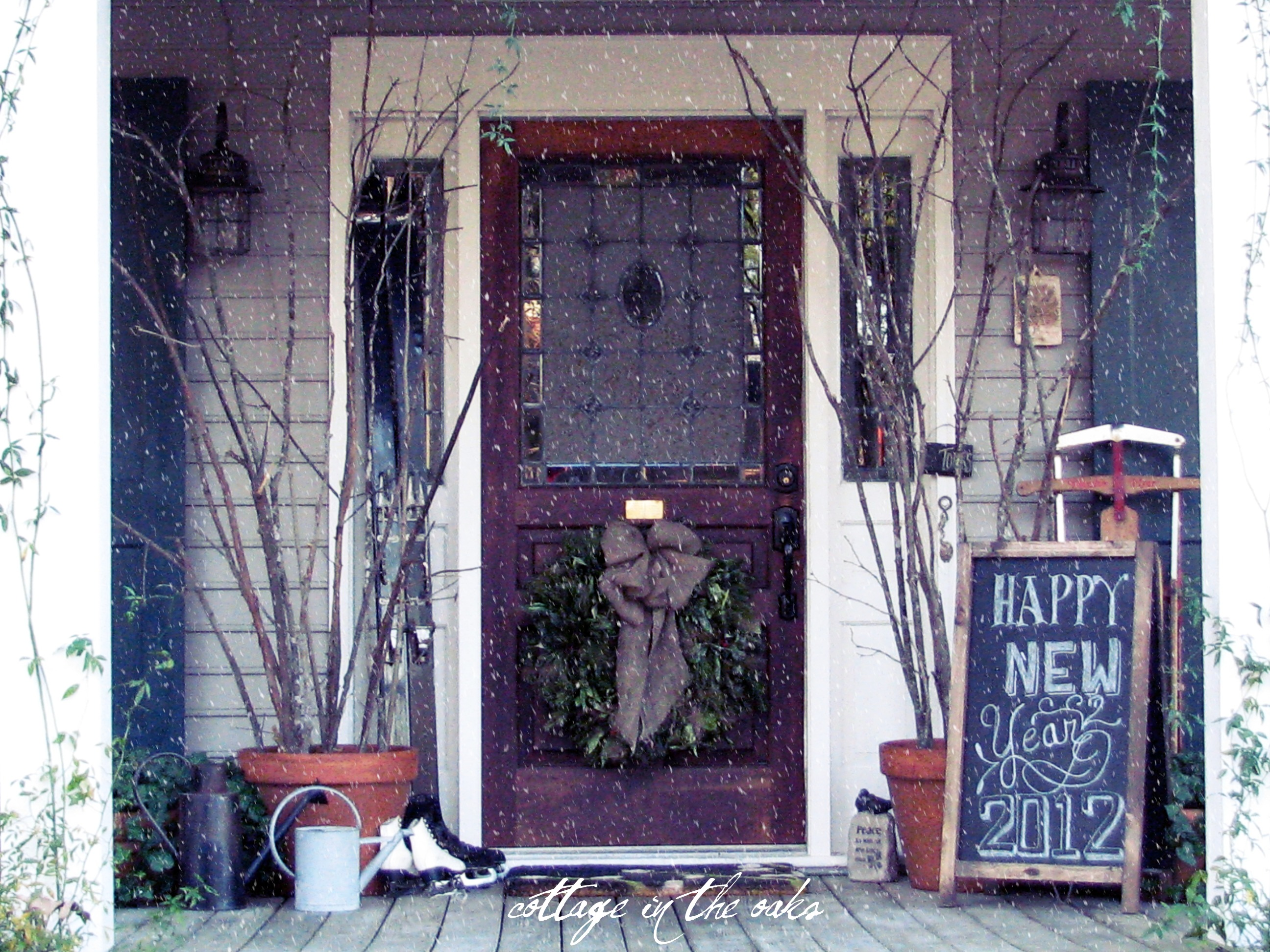 winter front porch - How To Decorate Front Porch For Christmas