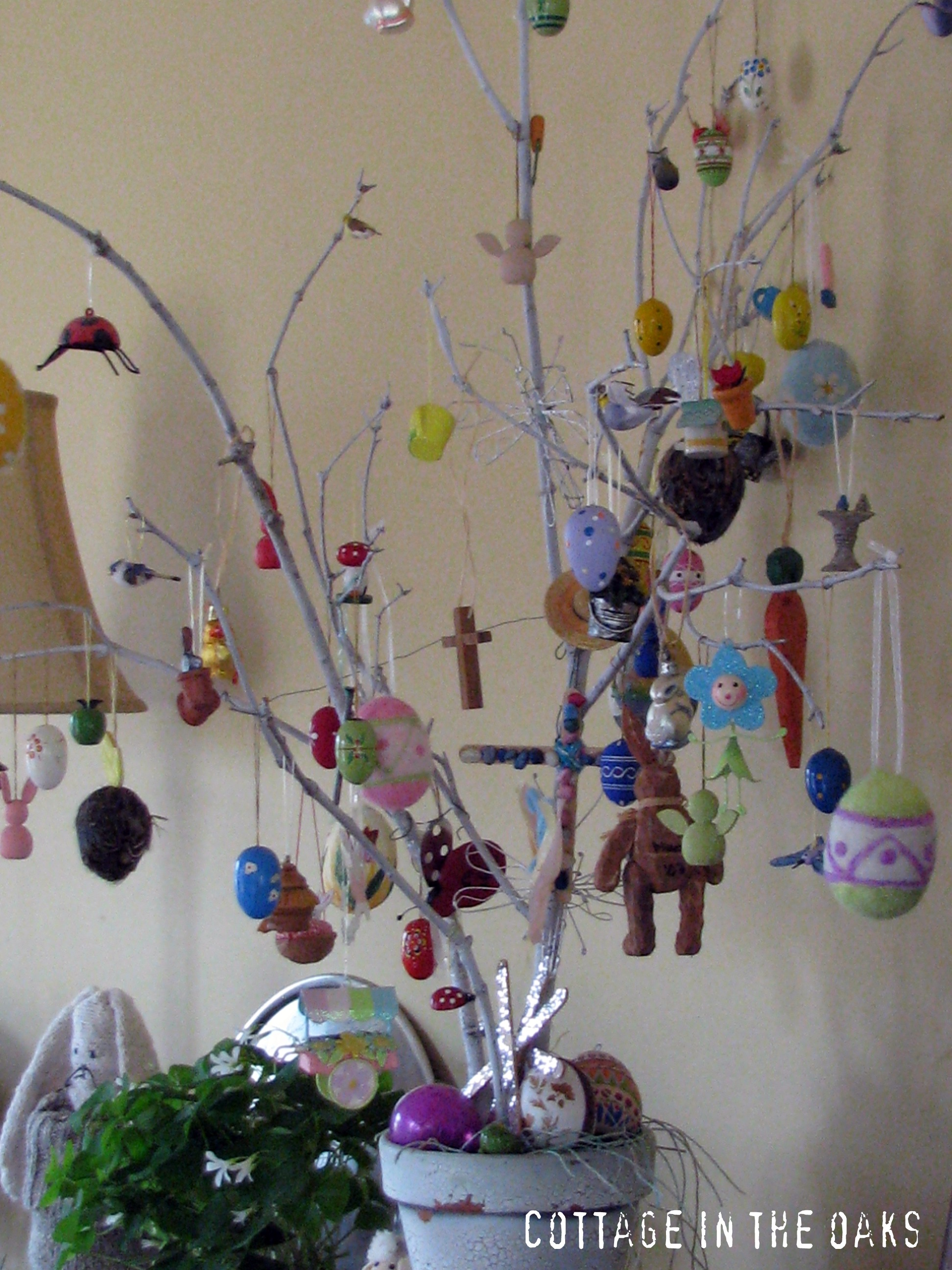 Fun easter projects and traditions cottage in the oaks How to make an easter egg tree