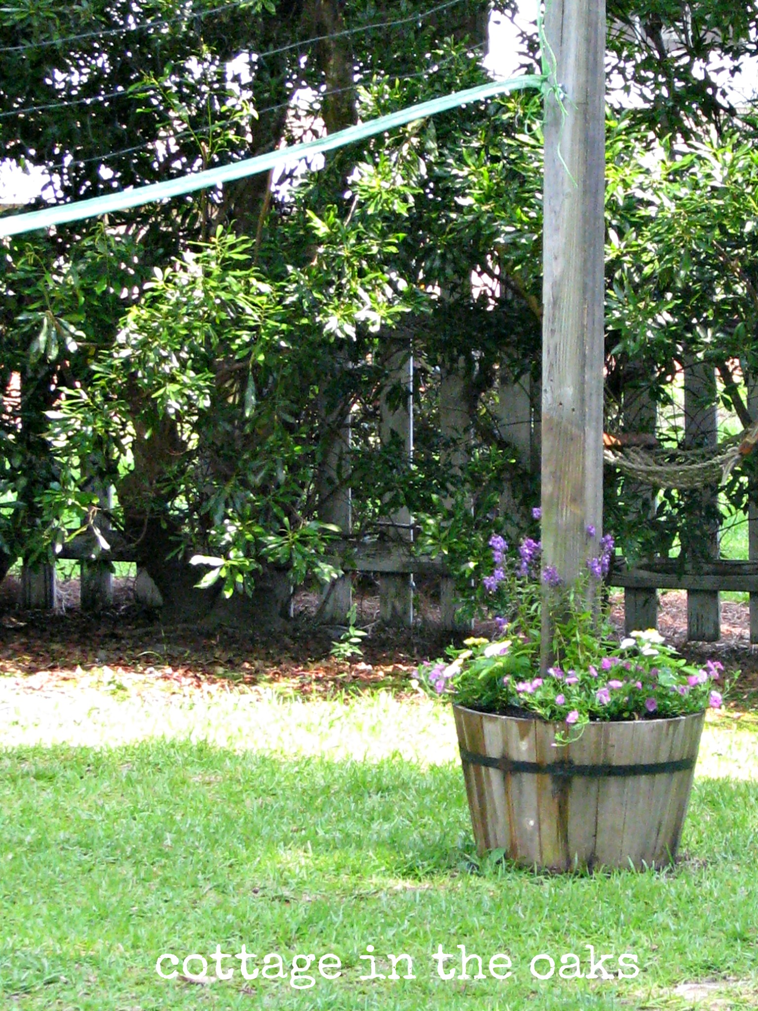 volleyball post flowers cottage in the oaks