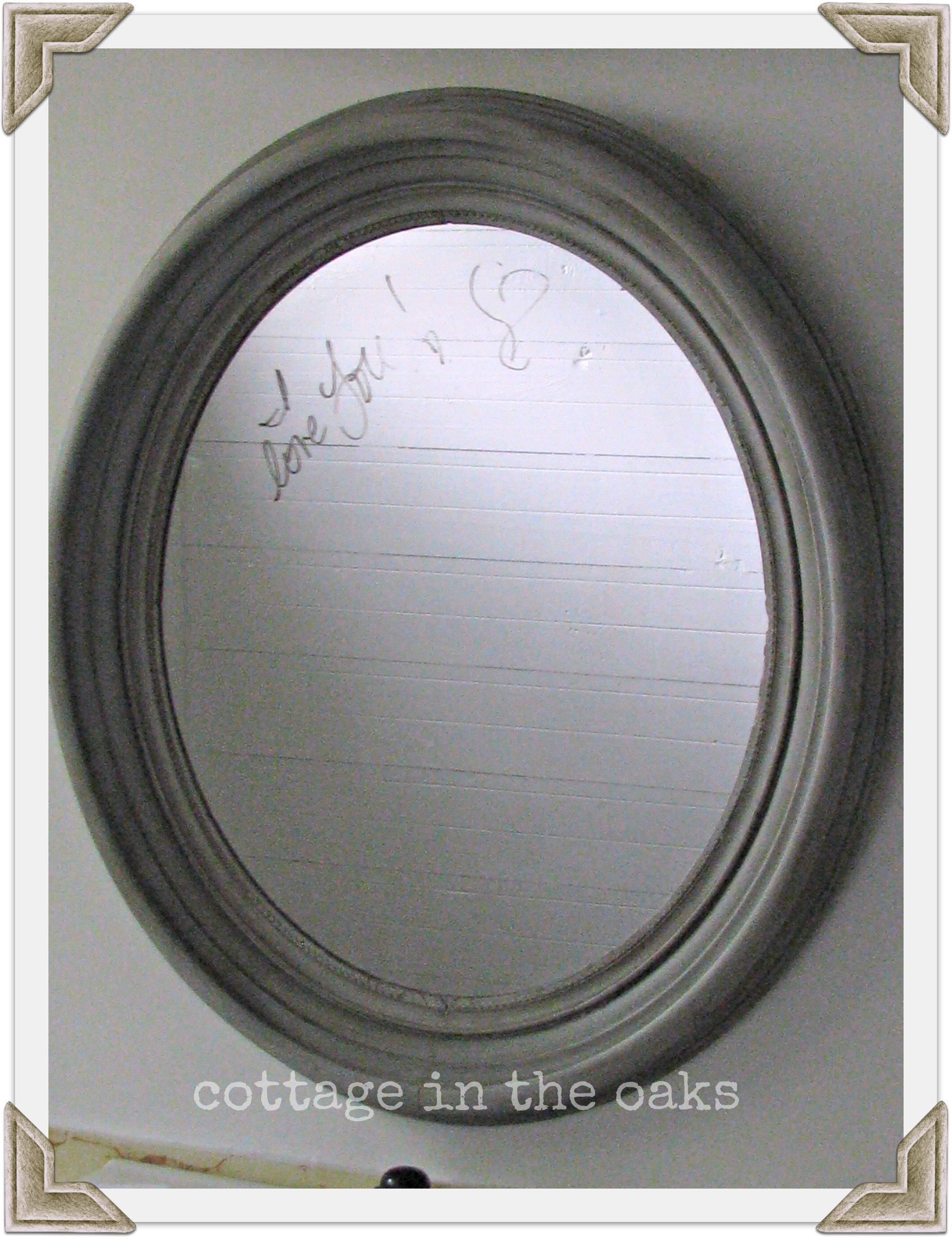 Mirror Painted In Grey Chalk Paint