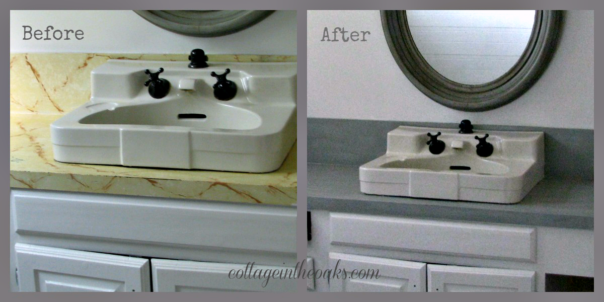 Countertop Paint Before And After : bath counters before and after