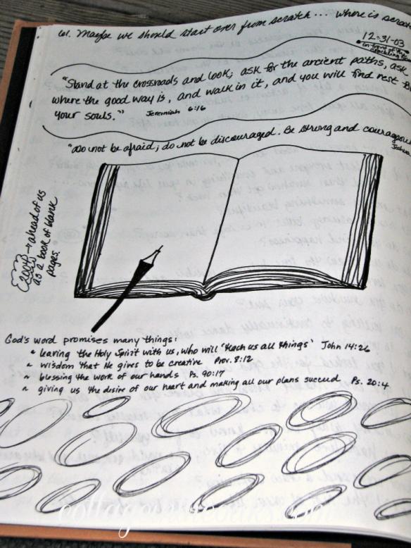 Keeping An Art Journal Cottage In The Oaks