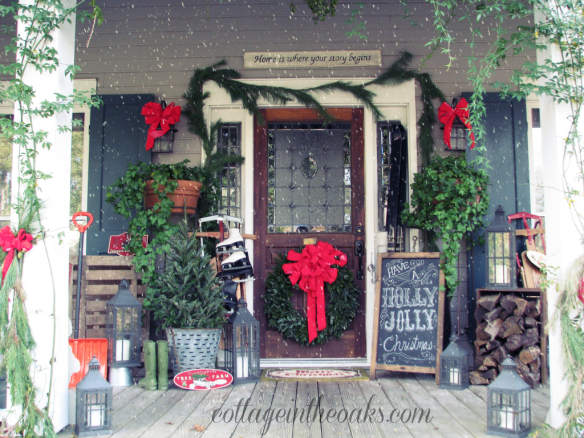 christmas front porch 2012