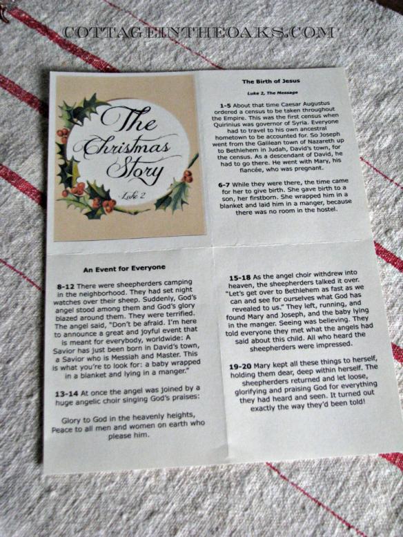 christmas story printout