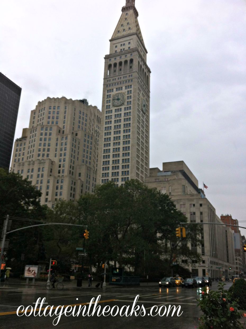 clock tower in flatiron district