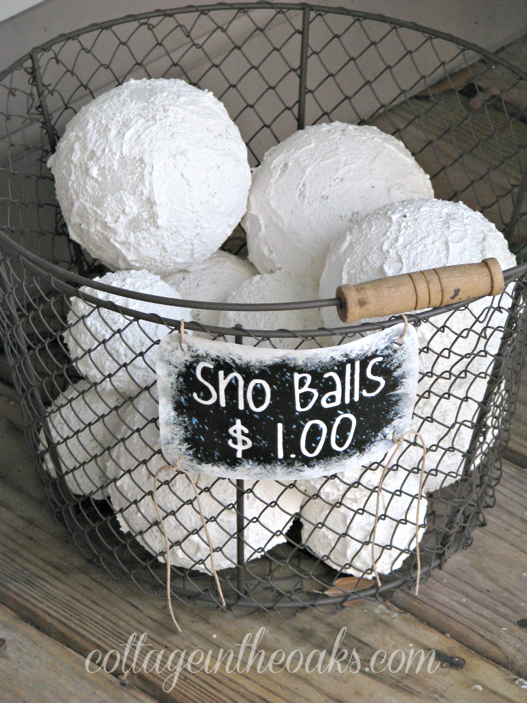 faux snow balls