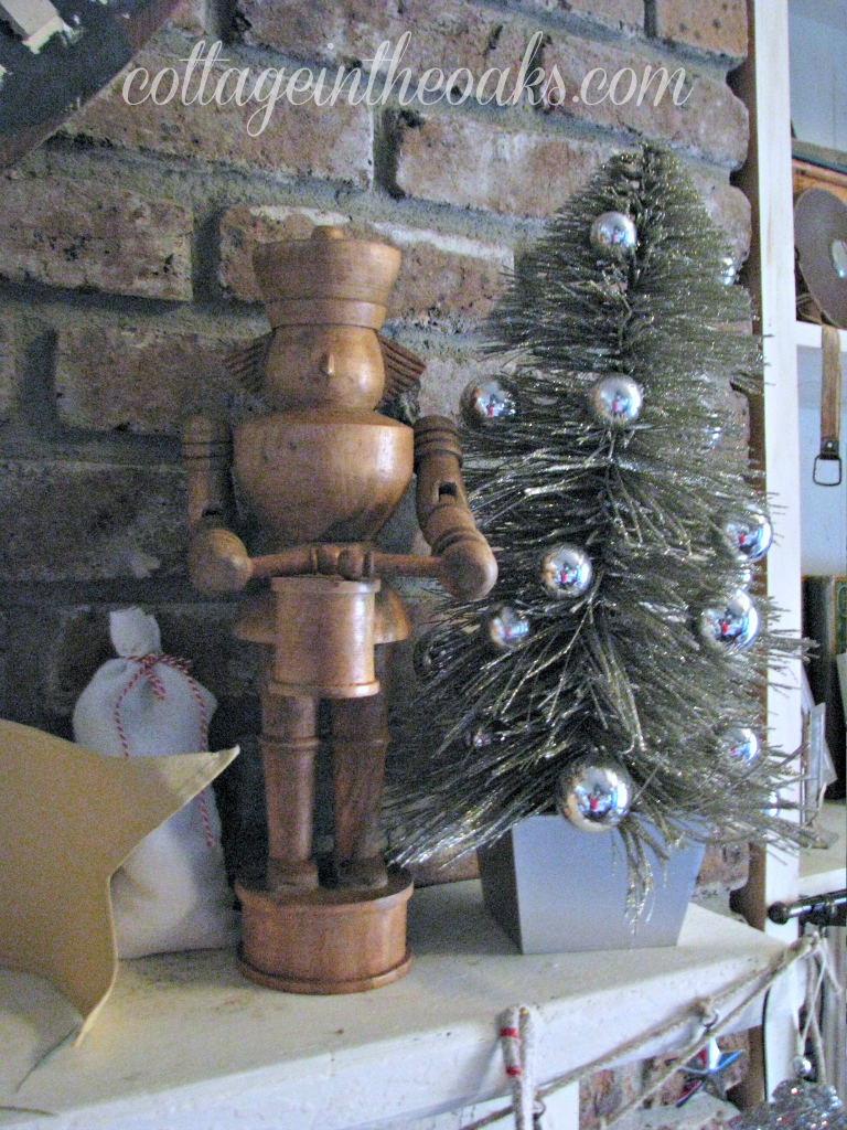 nutcracker on mantel