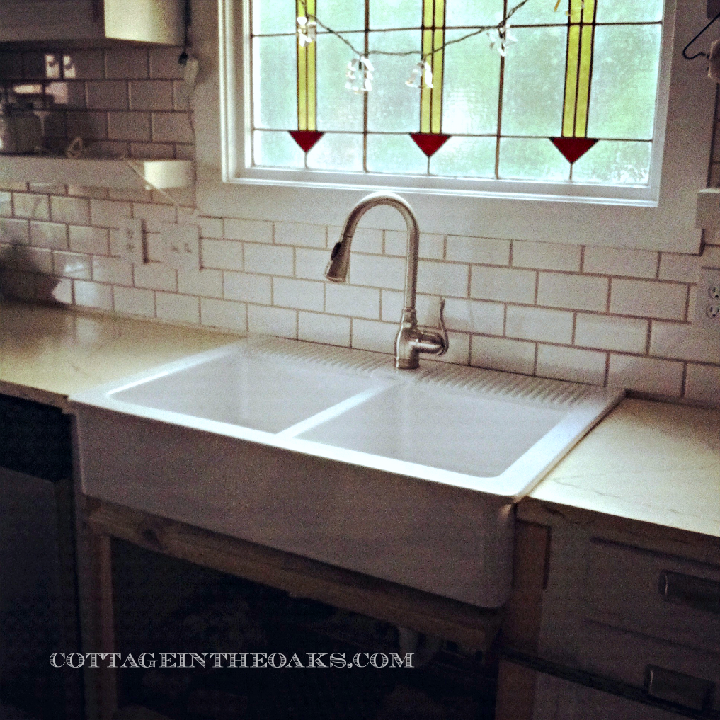 Top Mount Farmhouse Sink Ikea ~ Farmhouse Sink {Finally!}