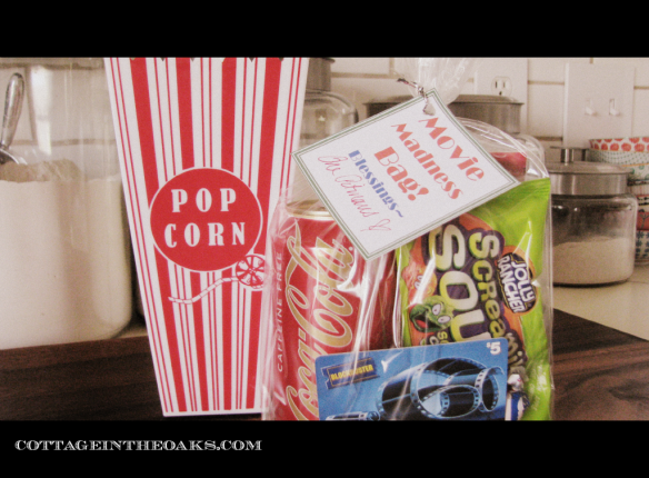 Movie Madness Bag...great teacher present